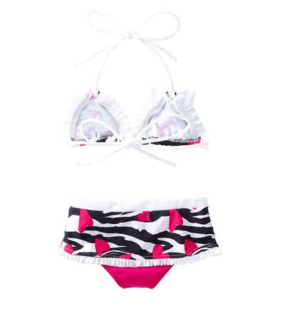 ZEBRA LOVE TIANGLE BIKINI AZUL 3811