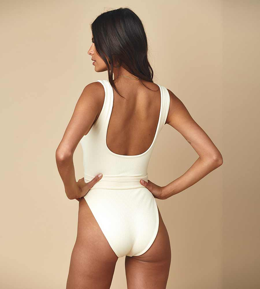 CREAM RIB KIM ONE PIECE BY MONTCE