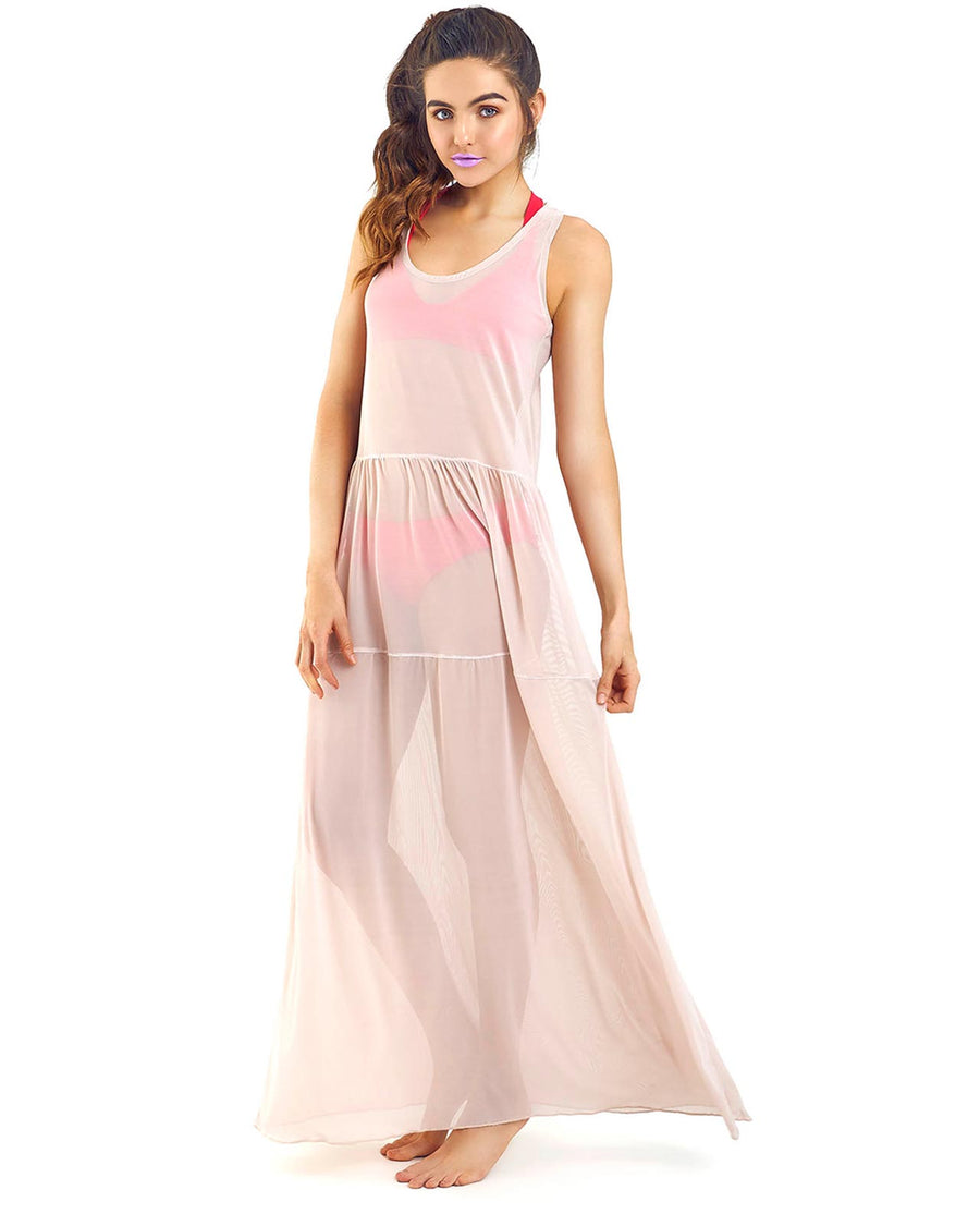 BEIGE MAGNOLIA MAXI DRESS BY MOLA MOLA