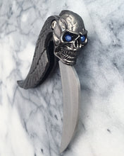 Nyx Folding Knife, Gunmetal with Opal Eyes
