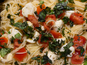 Caprese Garlic Angel Hair Pasta