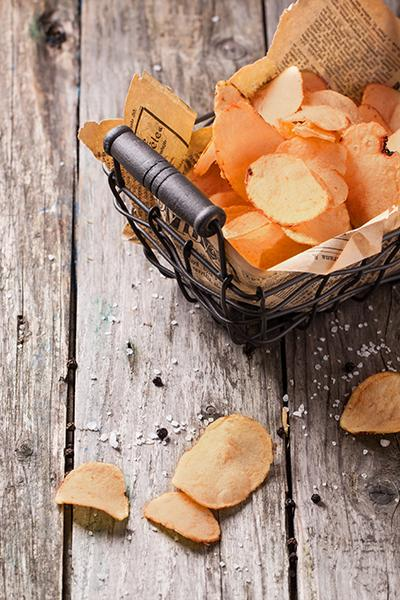 Sweet Potato Chips Two Ways