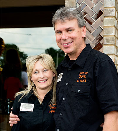 Greg & Shirley Mueller, co-founders of Olive Oil Divine