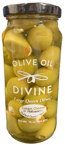 Cream Cheese & Habanero Stuffed Queen Olives