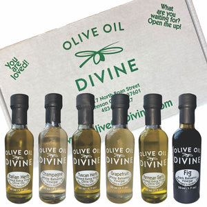 "6 Pack - ""Italian"" Extra Virgin Olive Oil & Balsamic Gift Box"