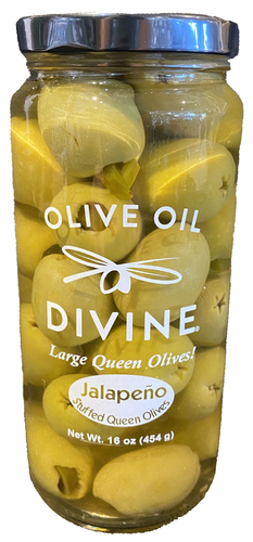 Jalapeño Stuffed Queen Olives
