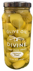 Lemon Peel Stuffed Queen Olives