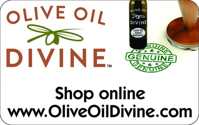 Gift Cards for our online store - First Cold Pressed Extra Virgin Olive Oil - Aged Balsamic Vinegar