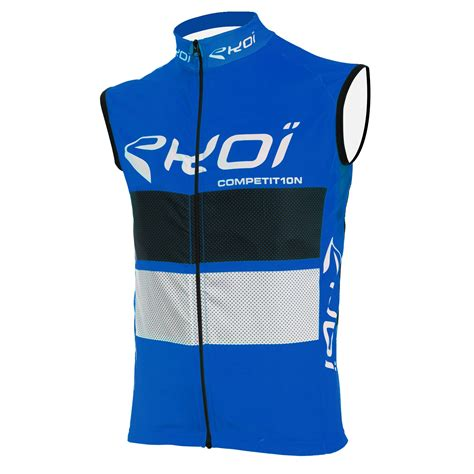 EKOI COMP10 BLUE BLACK WHITE WINDPROOF VEST