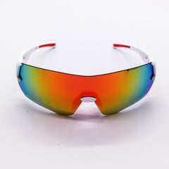 EKOI PERF SUNGLASSES WHITE REVO RED