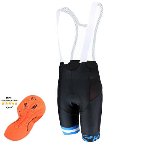 EKOI CORSA LIGHT GEL BLUE BIB SHORTS