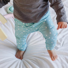 Load image into Gallery viewer, Aqua Polka Dot Baby & Toddler Leggings