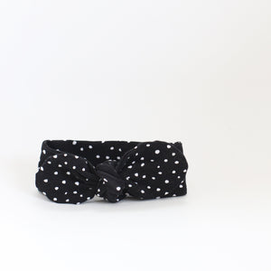 Black Dotty Headband