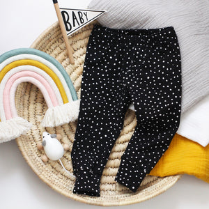 Black Dotty Leggings