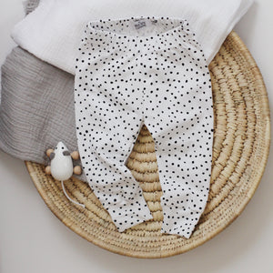 White Dotty Leggings