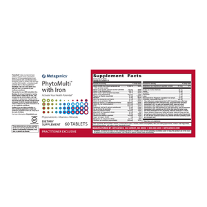 Metagenics PhytoMulti With Iron - 60 Tablets