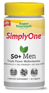 Super Nutrition SimplyOne 50+ Men's Multivitamin - 30 Tablets