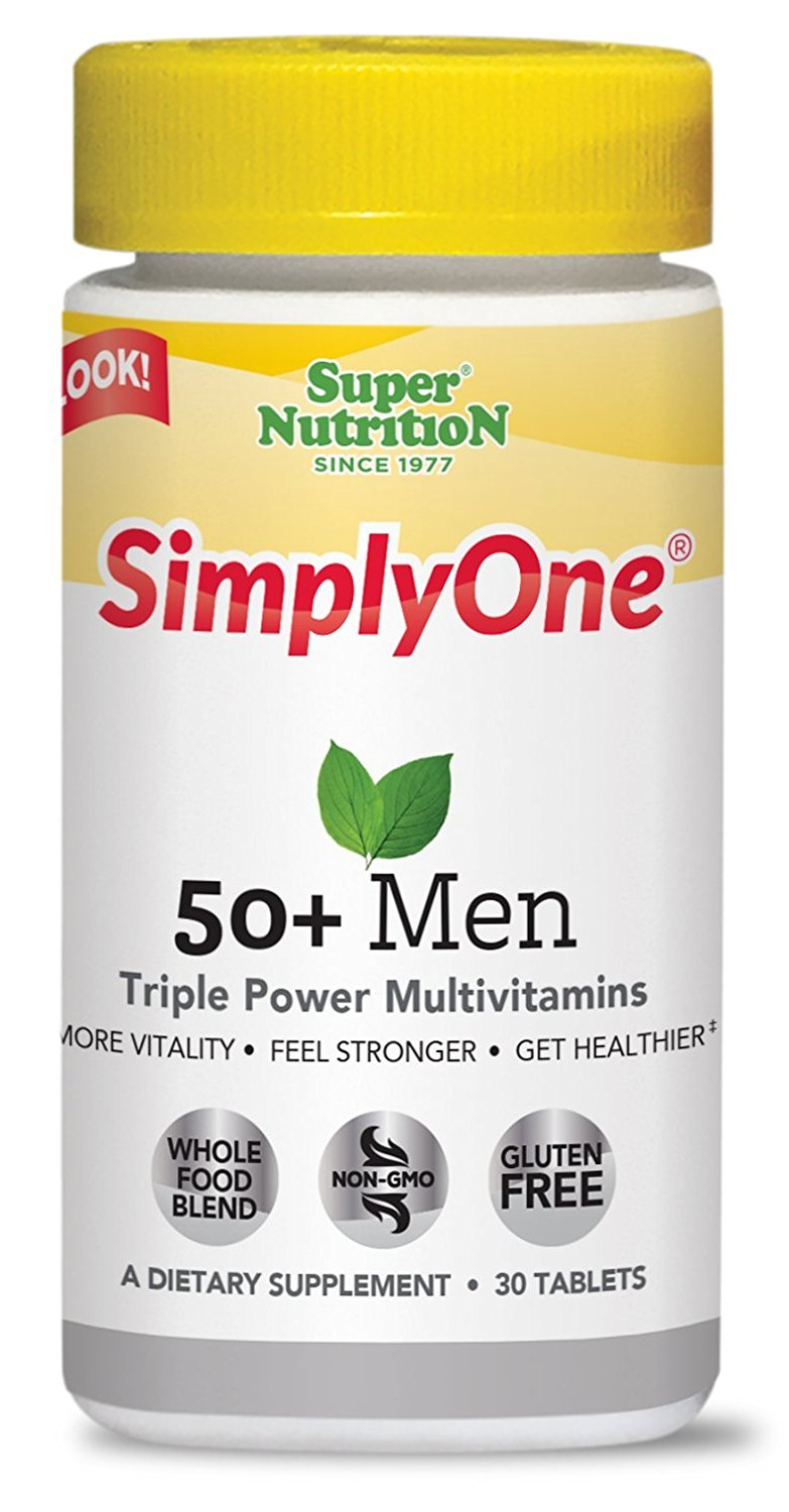 Super Nutrition SimplyOne 50+ Men's Multivitamin - 90 Tablets