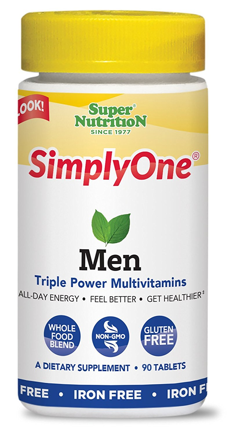 Super Nutrition SimplyOne Men's Multivitamin, Iron-Free - 90 Tablets