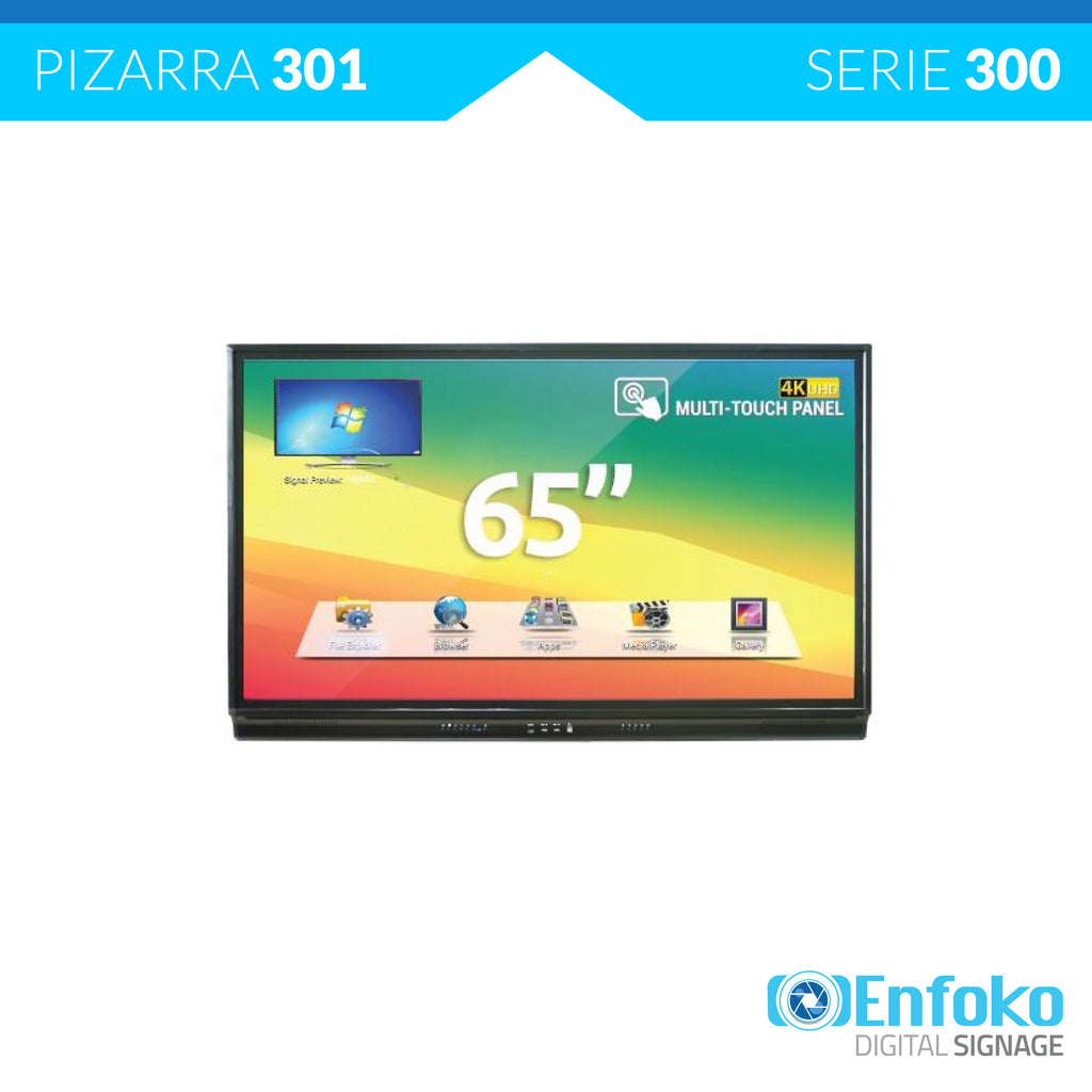 Tipo 301 - Tablero Pizarra Interactiva Ultra HD 4K - 65""