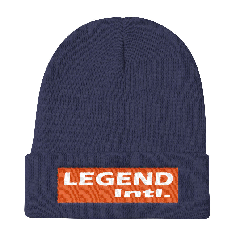 Legend Intl. OG Orange Knit Beanie 50c95167170