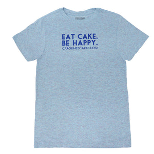 Eat Cake. Be Happy. T-Shirt (BLUE/BLUE)