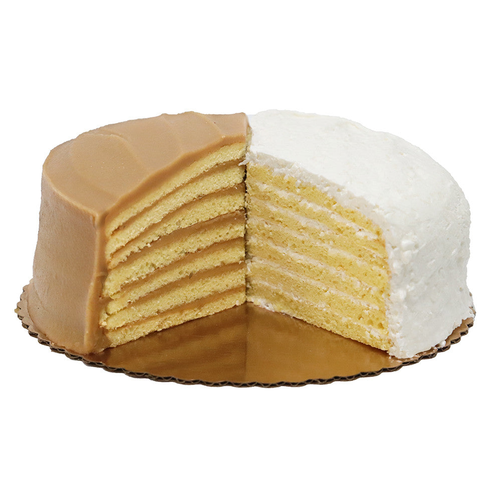 1/2 Caramel and <br> 1/2 7-Layer Coconut