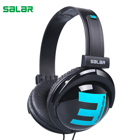 Salar Big E Portable Over-Ear Headband Wired Earphone Gaming Headset Foldable Headphone for iPhone Laptop PC Computer