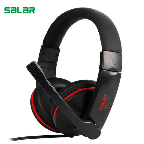 Salar A500 Gaming Headset gamer earphones Headphones with microphone deep bass Wired headphone for PC