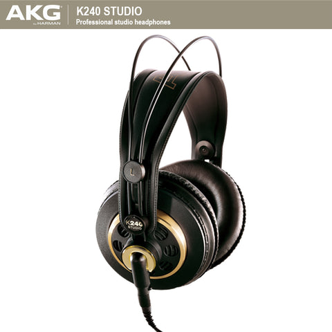 AKG K240 STUDIO Wired Gaming Headset Earphone Headset Computer Headband Headphones with Microphone For PC Phone Laptop Foldable