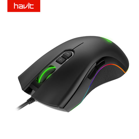 HAVIT Programmable Gaming Mouse 4000DPI 7 Buttons RGB Backlit USB Wired Optical Mouse Gamer for PC Computer Laptop HV-MS794
