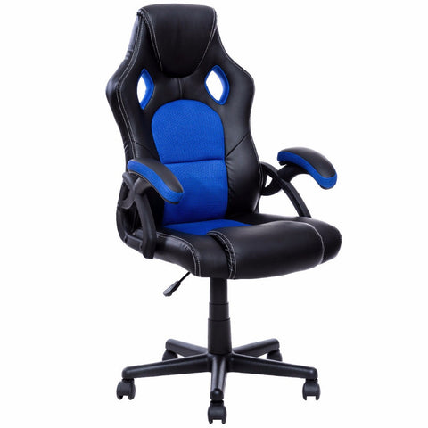 Goplus PU Leather Gaming Chair Executive Bucket Seat Racing Style Office Chair Modern Computer Desk Task Swivel Chairs HW53001