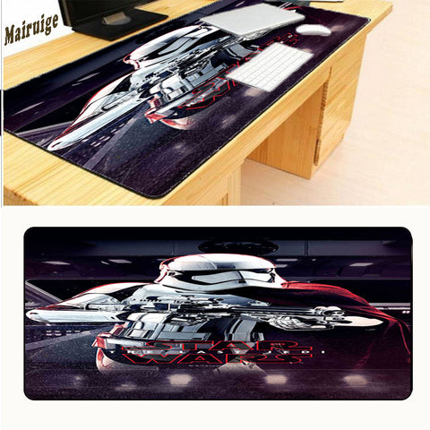 Mairuige Locking Edge Large Speed Up Gaming Mouse Pad Mousepad Star Wars Style Mousemat for Computer Laptop Mice Mat Dota2 LOL