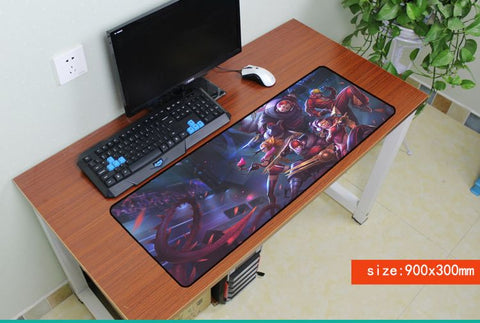 Mairuige League of Legends 800 * 300 High Quality Large Gaming Mouse Pad Mousepad Edge Lock for PC Laptop Lively Mousepad Mat