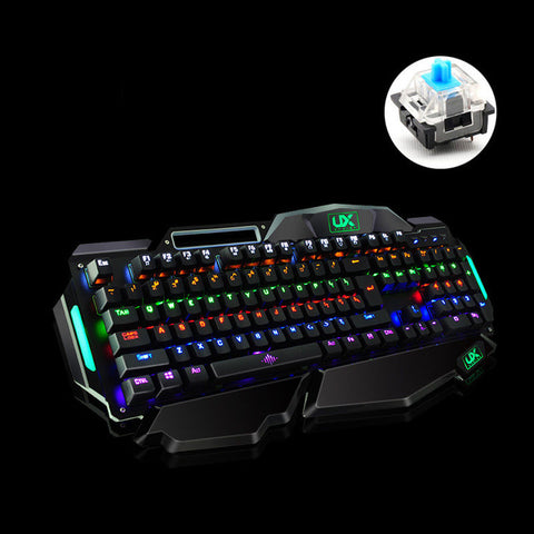 K915 Mechanical Gaming Keyboard 10 Backlight Modes Blue Switch for Gamer PUBG LOL