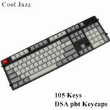 Cool Jazz DSA profiles blank Keycap 104 keys thick pbt for Mechanical Gaming Keyboard MX Switches