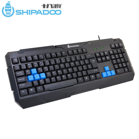 SHIPADOO K400 Ergonomic Computer Keyboard Special Keys USB Wired Gaming Keyboard 104 Keys for PC Laptop