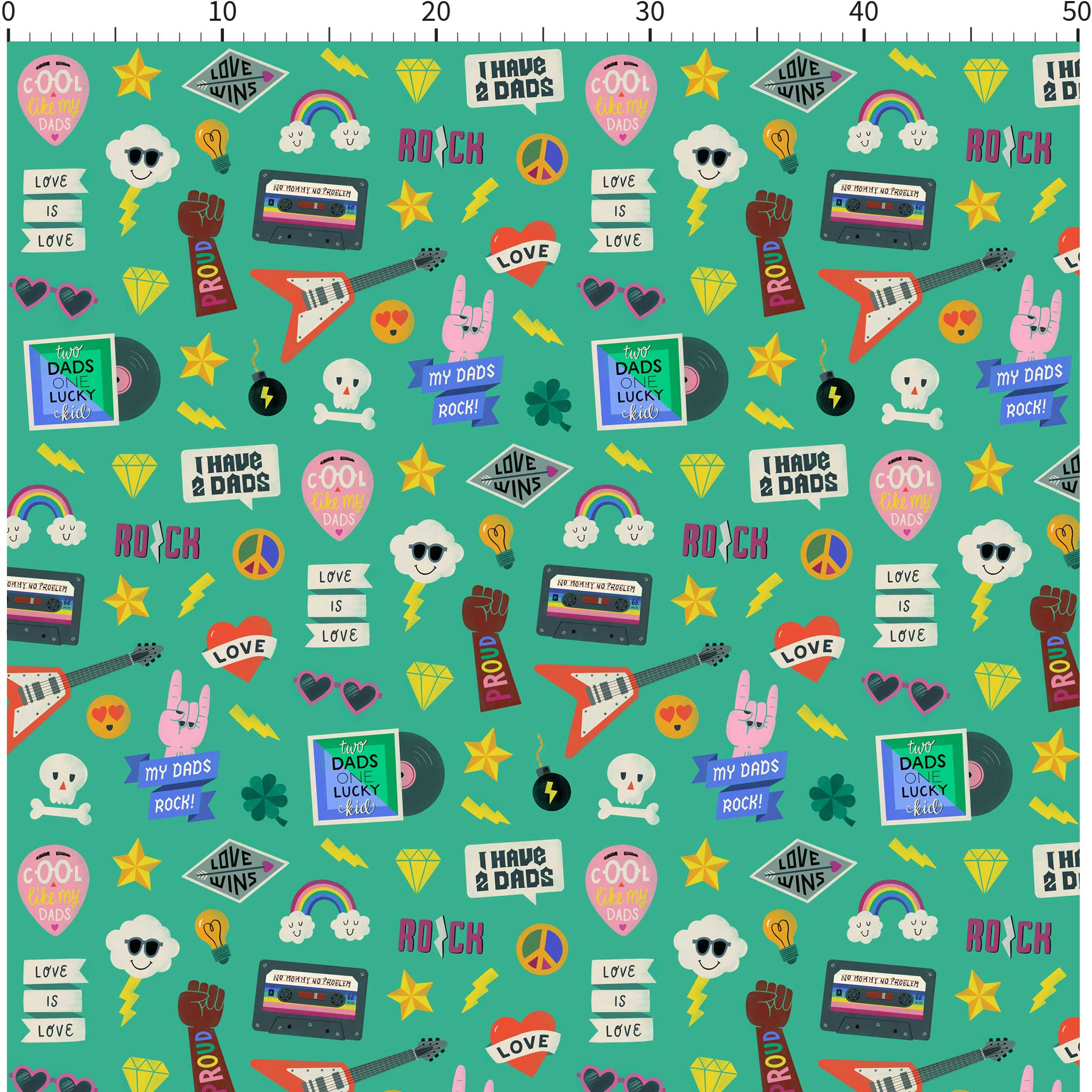 Wrapping paper two dads (200x50cm)