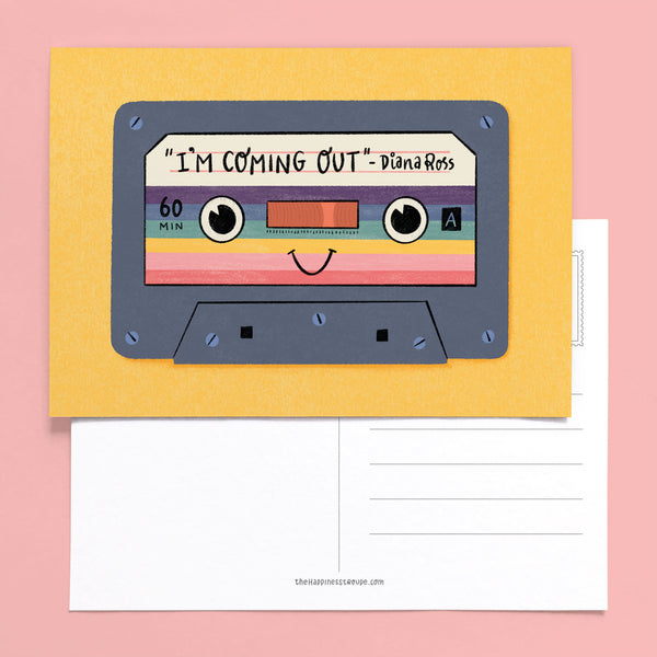 I'm Coming Out postcard