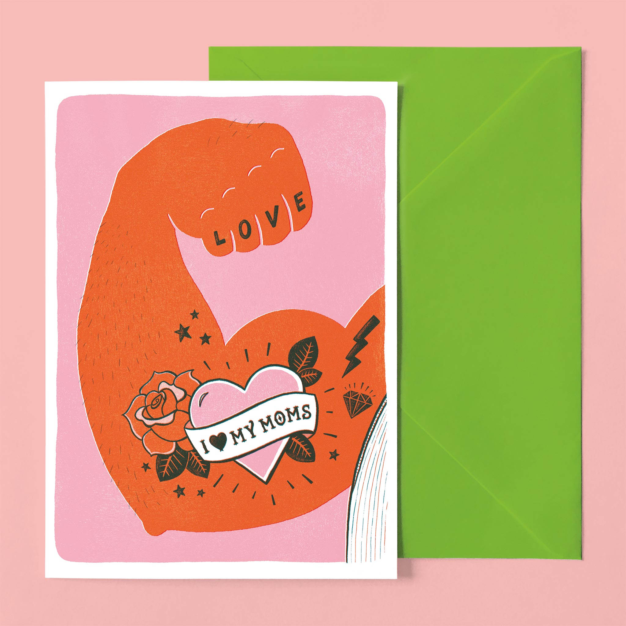 greeting card Lesbian Moms Muscle