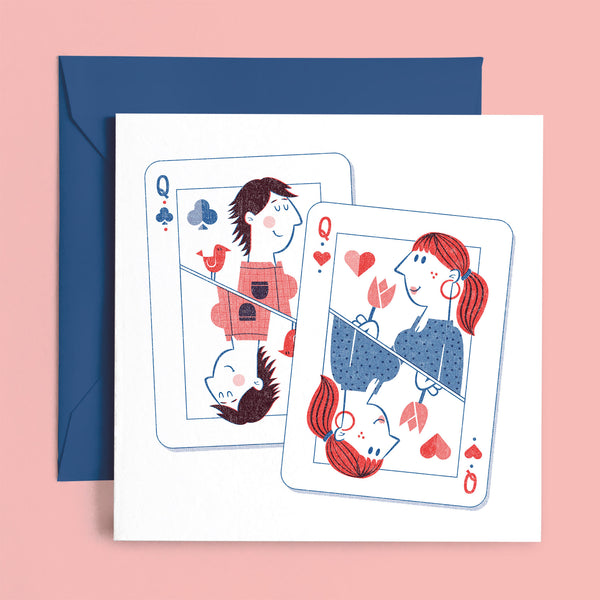 lesbian ladies queen greeting card