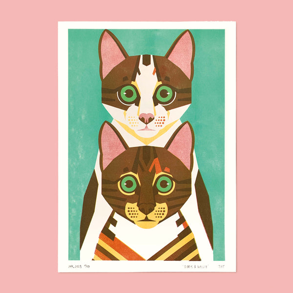 Doris & Nellie A3 art print
