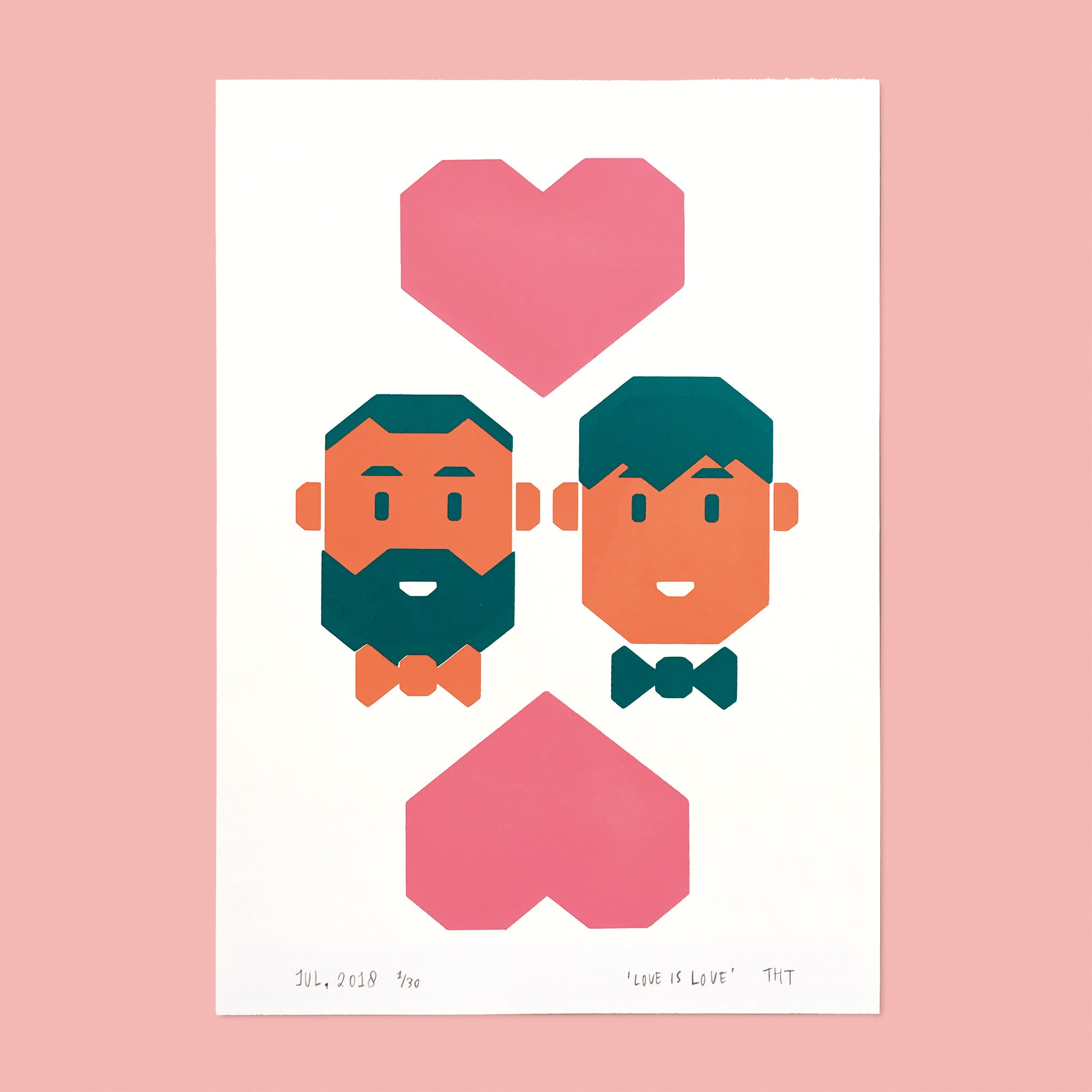 gay men couple in love bear beard bowtie
