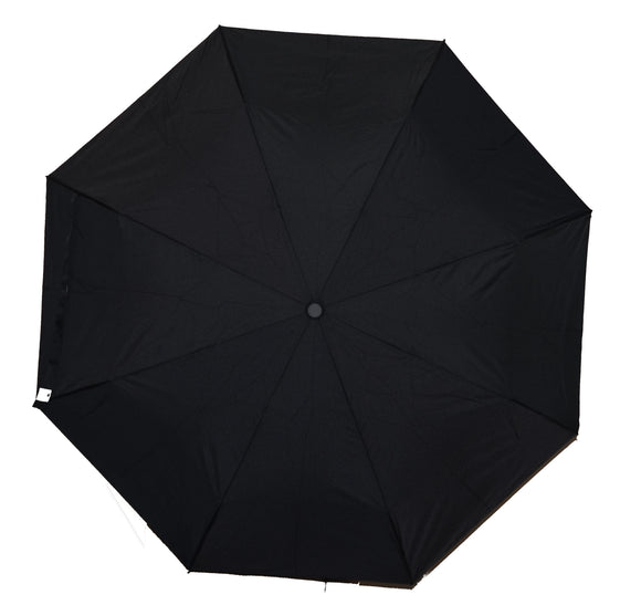 BuyElegant Black Plain Automatic Open Close Umbrella (3 Fold)