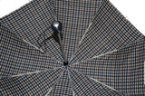 BuyElegant Black Checked Automatic Open Close Umbrella (3 Fold)