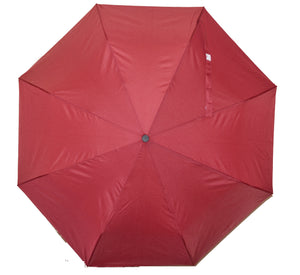 BuyElegant Burgundy Checked Automatic Open Close Umbrella (3 Fold)
