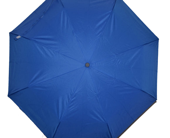 BuyElegant Blue Checked Automatic Open Close Umbrella (3 Fold)