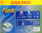 Flash Speed Mop Giga Pack - Speedmop + 60 refills - 360 Clean Mop - Value Pack for Clean Floors