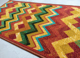 Vintage Style Polyester Area Rug Anti-Slip Small Carpet / Runners for Living Room, Bedrooms