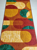 Geometric Shapes Rugs Floor Mat - 100% Polyester Rug with Anti-slip Latex back - 150x80cm
